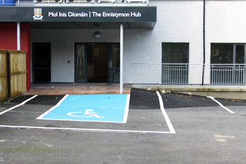 Ennistymon Digital Hub disabled parking space