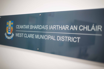 West Clare Municipal District name plaque