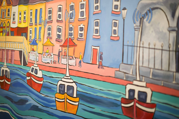 Bespoke mural painted by Dave O'Rourke for the Kilrush Digital Hub